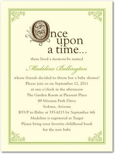 Free Printable once upon a time Baby Shower Invitation templates