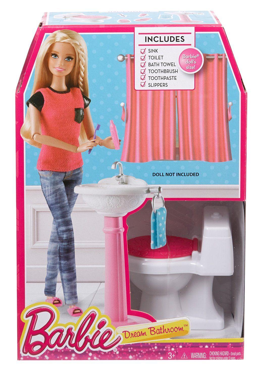 Barbie Story Starter Toilet Set Www Barbie Story Starter Toilet Set Dp B00m5atydc Ref Pd Bxgy Cosas De Barbie Autocaravana De Barbie Sets De Barbie