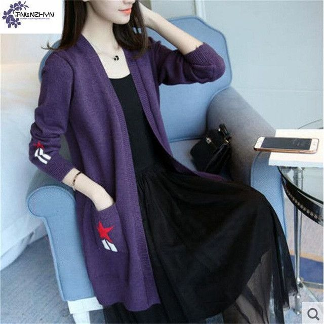 Buy TNLNZHYN spring new Women Cardigan sweater coat fashion ...