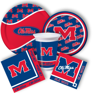 "Ole Miss Rebels NCAA College Football Game Day Sports Party 7/"" Dessert Plates"