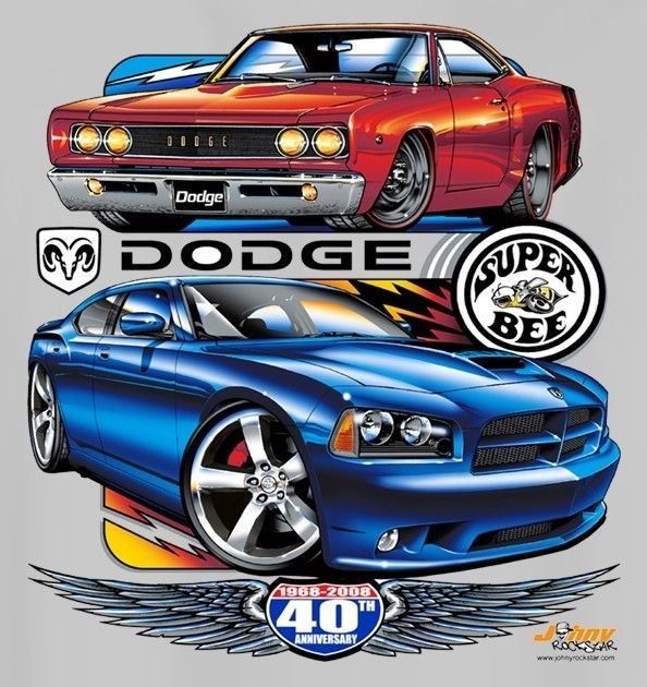 Dodge Charger T-shirts 1968 to 1970 Mopar Muscle Car