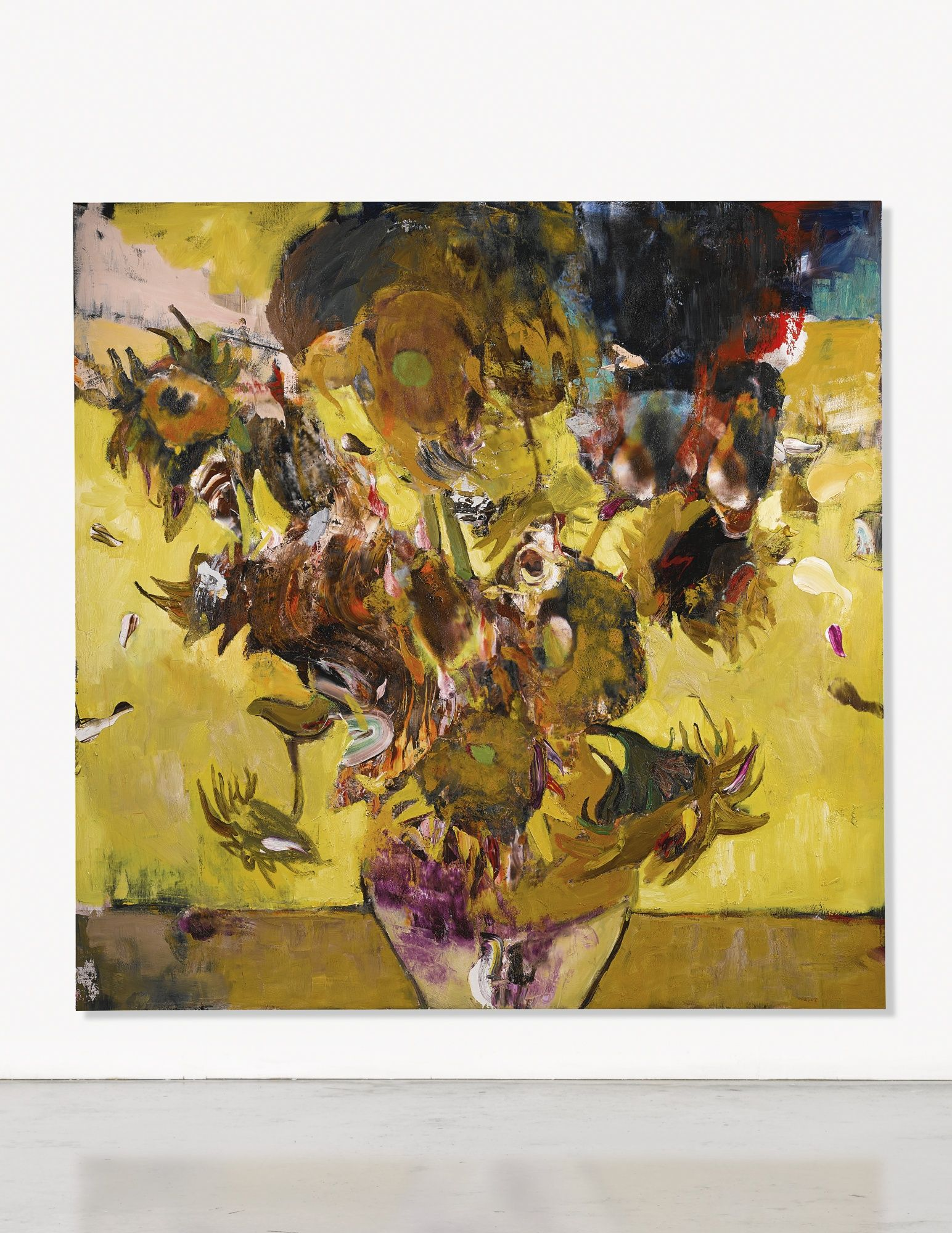 Adrian Ghenie B 1977 The Sunflowers In 1937 Signed And Dated 2017 On Reverse