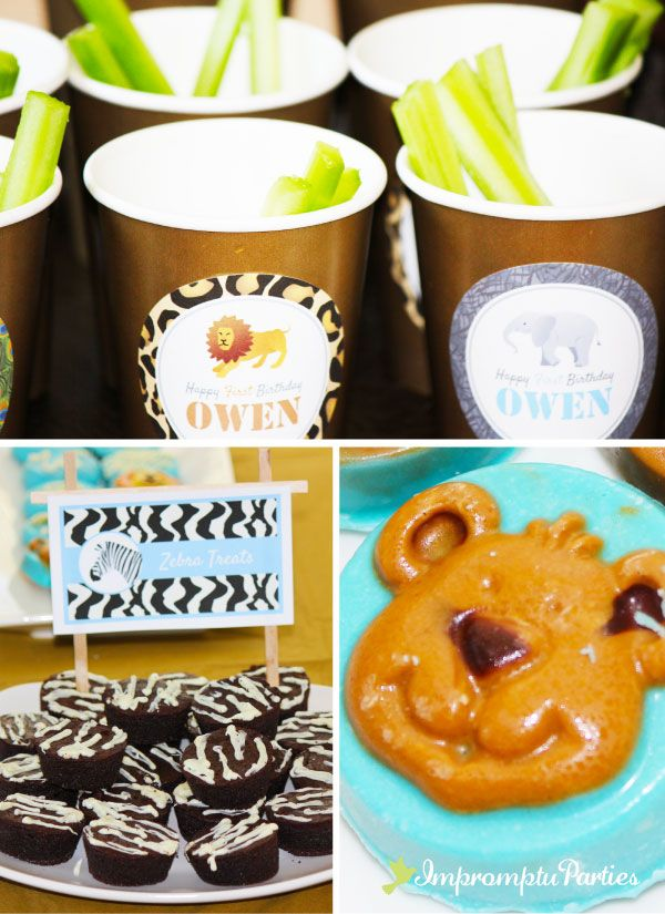 Zoo Birthday Party Food Ideasbrownie bites cute idea add zebra