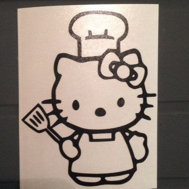 This BBQ Kitty Grill Master Vinyl Decal Is Perfect For - Printable vinyl decals