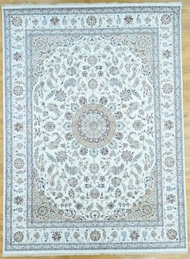 S H Ivory Nain 37786 Wool And Silk Rug One Of A Kind Rectangle 9 10 X 14 Rugs Buy Rugs Contemporary Rugs