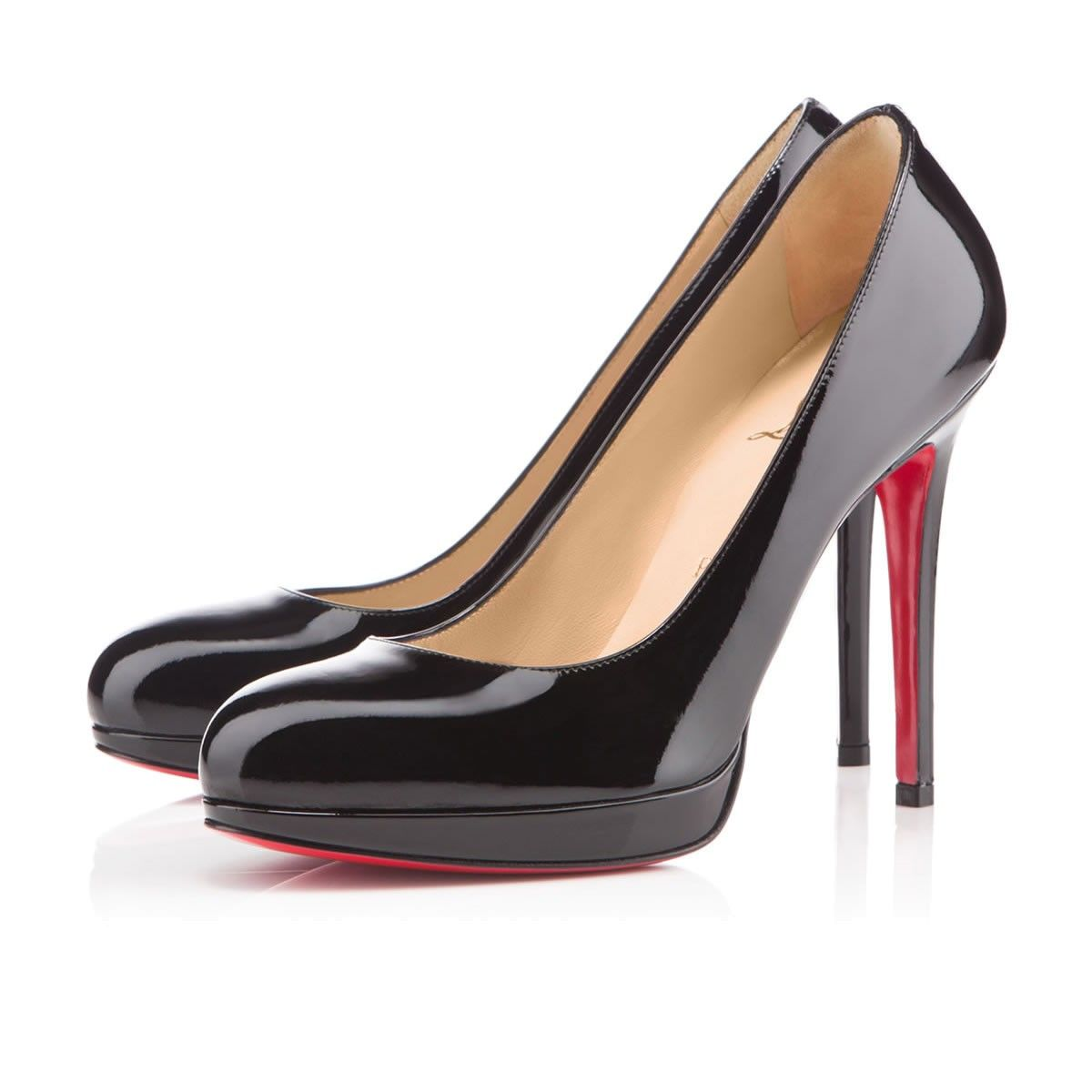 New Simple Pump 120 Black Patent Leather - Women Shoes - Christian Louboutin