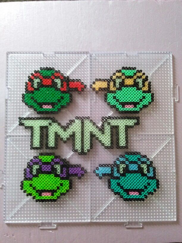 Tmnt Teenage Mutant Ninja Turtles Perler Bead