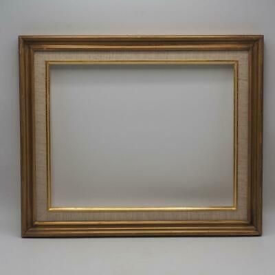 Details About Vintage Painted Gold Wood Picture Frame 14 1 2 X17 3 4
