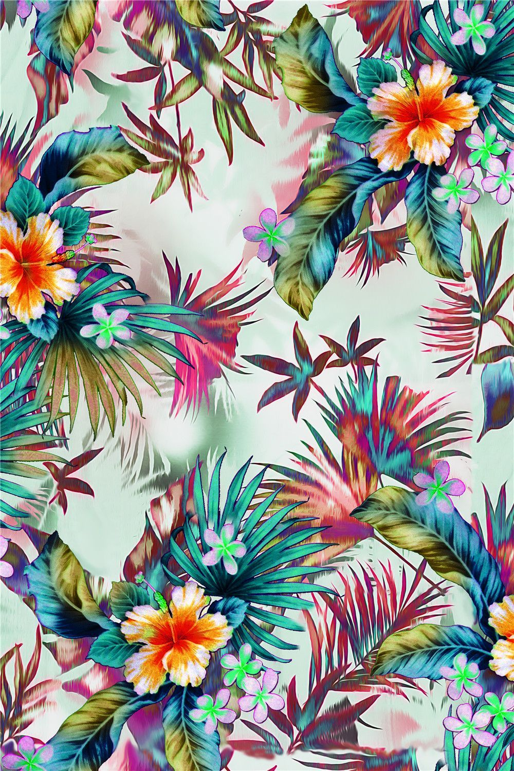 digital print floral tropical flower prints patterns background textile backgrounds designs printable pattern painting clipart decoupage flowers animated colourful 3d
