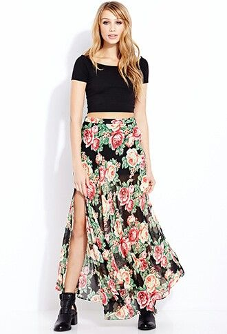 6de24d22e5 1 Womens Maxi Skirts, Cute Maxi Skirts, Maxi Skirt Style, Printed Maxi  Skirts