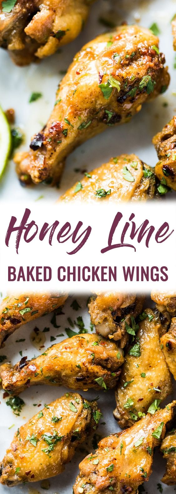 Baked Chicken Wings Recipe with Honey Lime Sauce