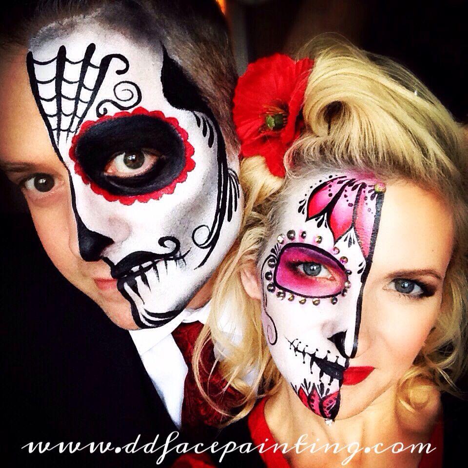 349b433cad1 His & hers sugar skulls - cute couples costume idea! #couples ...