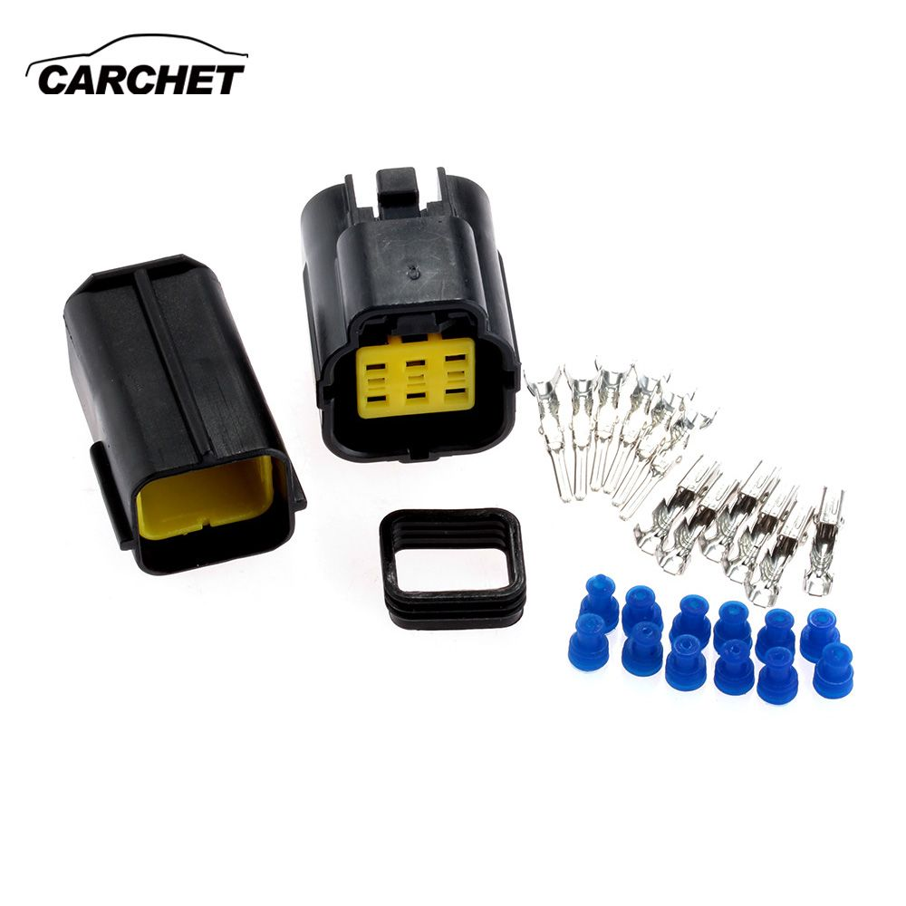 CARCHET Car Motorcycle 6 Pin Connector Waterproof Electrical Wire ...