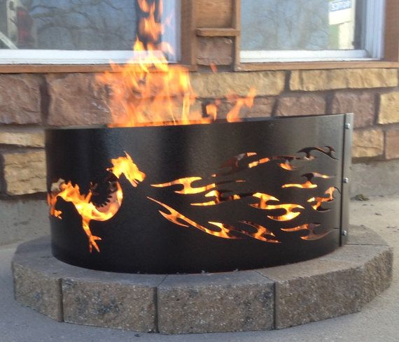 Dragon Fire Pit Metal Metal Art Fire Ring By Nunnikhovenartstone Outdoor Fire Pit Outdoor Fire Pit Designs Fire Pit Ring