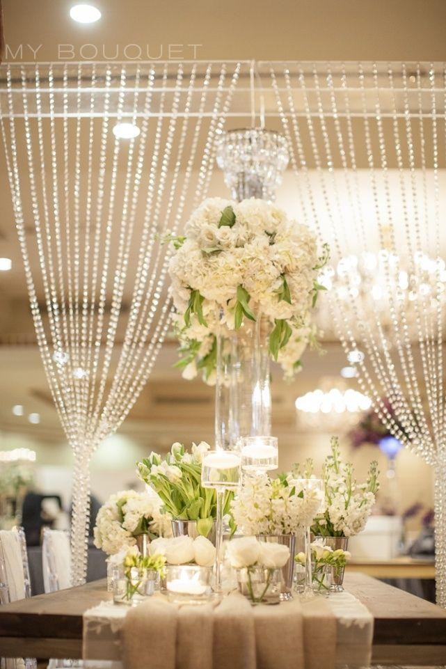 SzalagokbÓl FÜggÖny Sparkler Inspired Wedding Centerpieces Crystal Curtain Backdrop Theme Sparkle