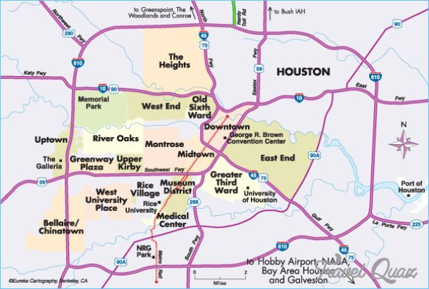 Map Of Texas Medical Center.Nice Houston Map Tourist Attractions Houston Houston Map