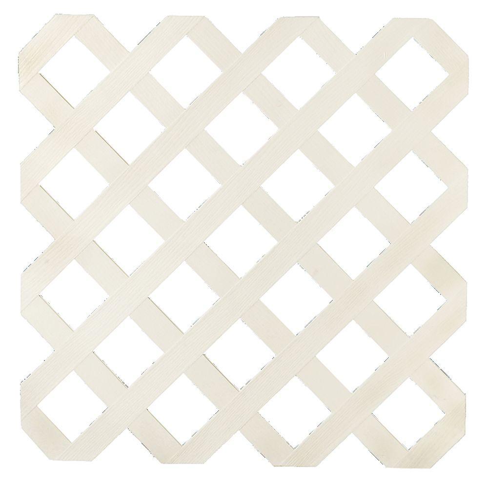 4 Ft X 8 Ft Almond Garden Vinyl Lattice 148923 Plastic Lattice Lattice White Vinyl
