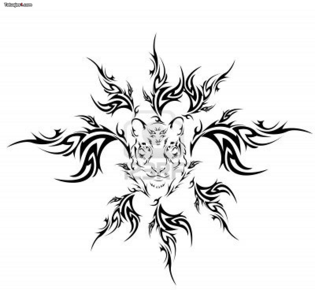 Tatuaje Tigre Tribal tatuaje tigre con tribal | tatuajes legendarios | pinterest