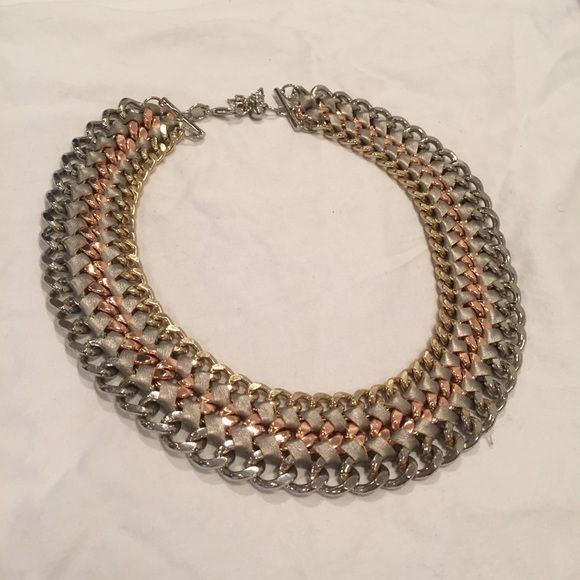 Express statement necklace Beautiful Casual and Rose gold