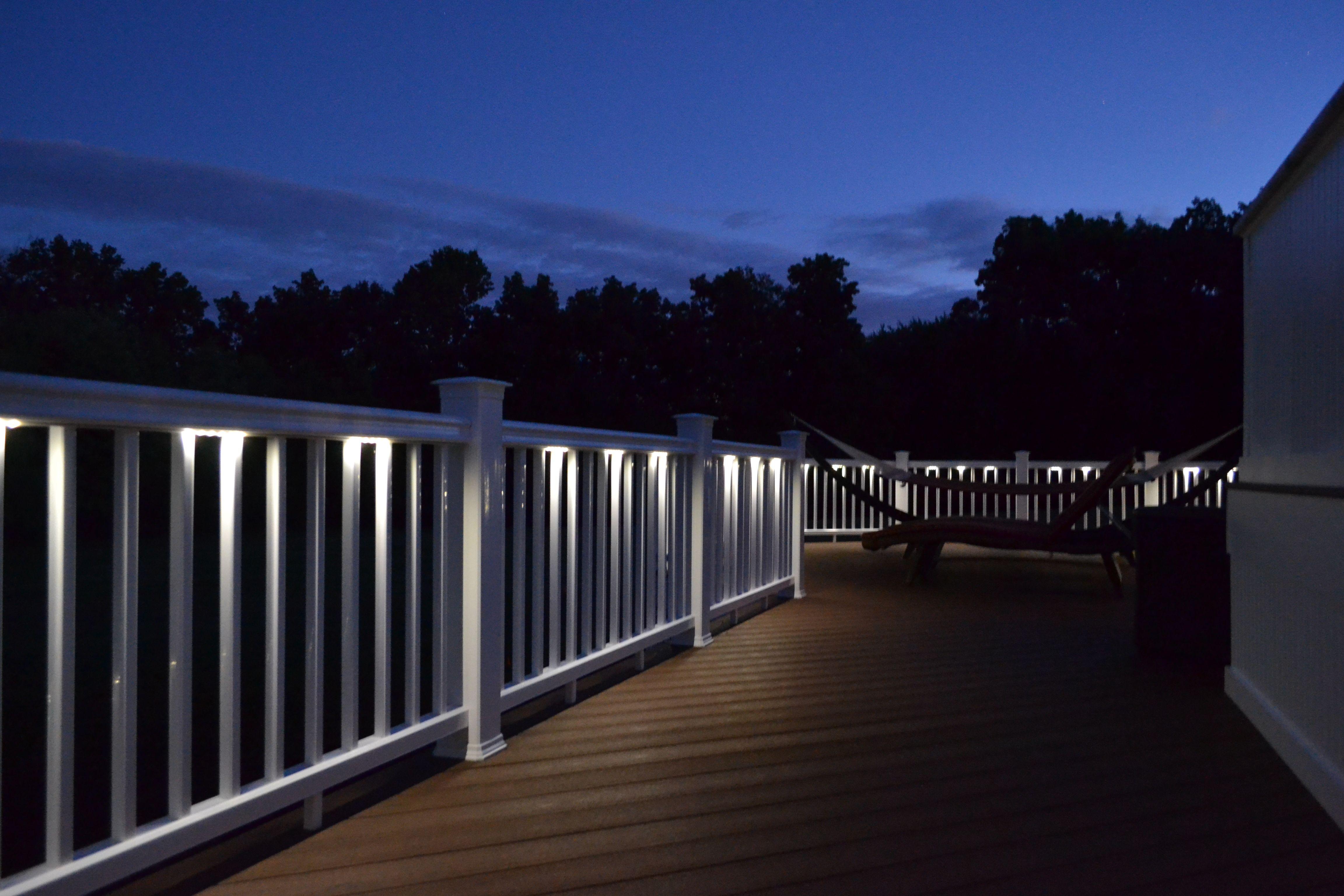 deck lighting patio railing