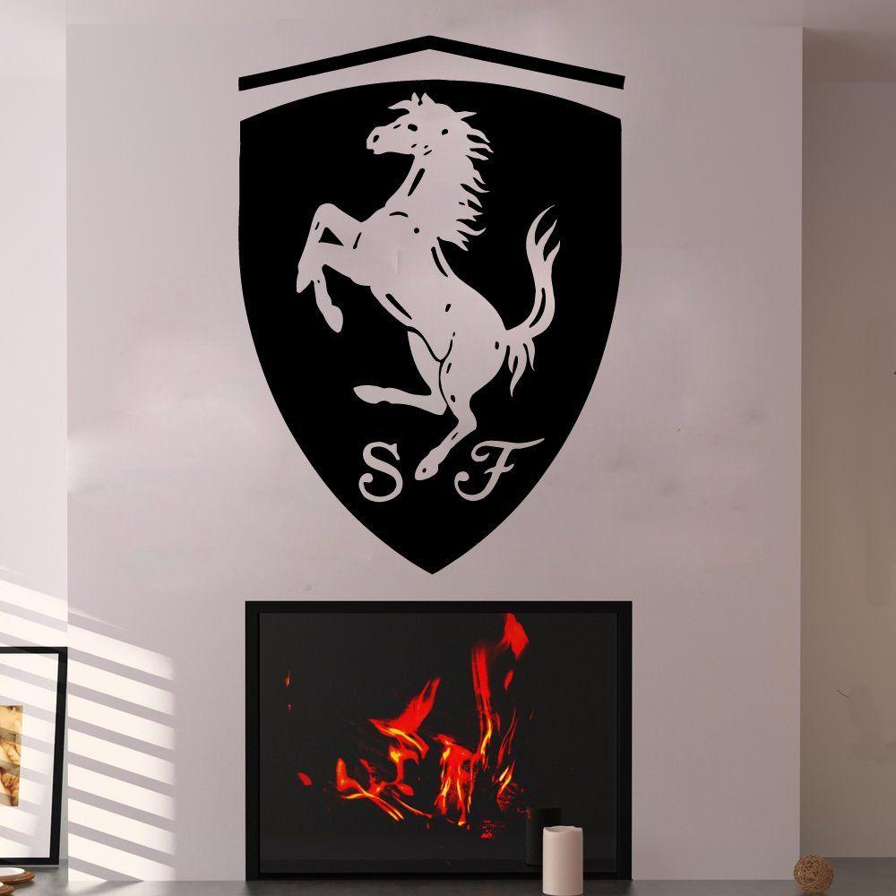 1 Ferrari Wall Decals Vinyl Sticker Emblem Logo Decal Garage Interior Studio Decor Bedroom Dorm Vinyl Wall Decals Studio Decor Garage Interior