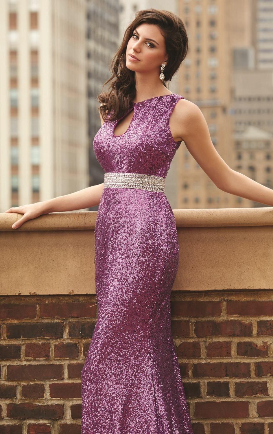 Show The Other Revelers What Real Glamour Is All About With This Breathtaking Madison James 15110 Creation Slinky Floor Length Dress Fits Closely