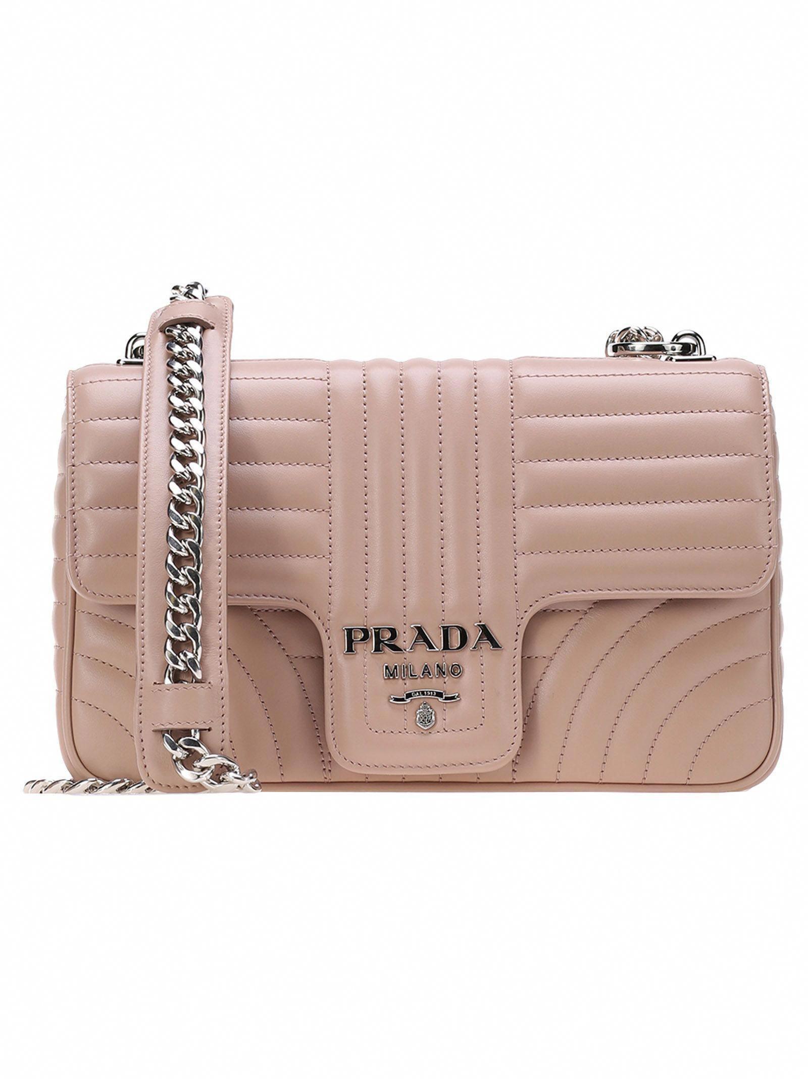 5ae40da668a1 PRADA BEVELLED SHOULDER BAG.  prada  bags  shoulder bags  hand bags   leather    Pradahandbags