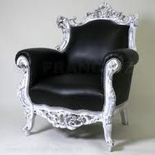 Barok Stoelen Zilver Zwart.Barok Stoel Zwart Zilver Stoelen Zwart Barok
