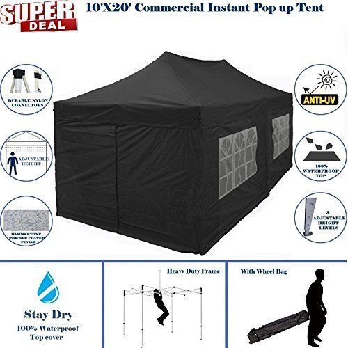 Best C&ing Tents | 10x20 Pop UP Canopy Wedding Party Tent Instant EZ UP Canopy Black F Model Commercial Frame By DELTA10x20 Pop UP Canopy Weddiu2026  sc 1 st  Pinterest & Best Camping Tents | 10x20 Pop UP Canopy Wedding Party Tent ...