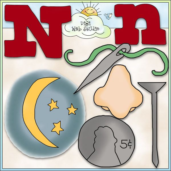 Alphabet Letter N - NE Cheryl Seslar Clip Art : Digi Web Studio, Clip Art, Printable Crafts & Digital Scrapbooking!