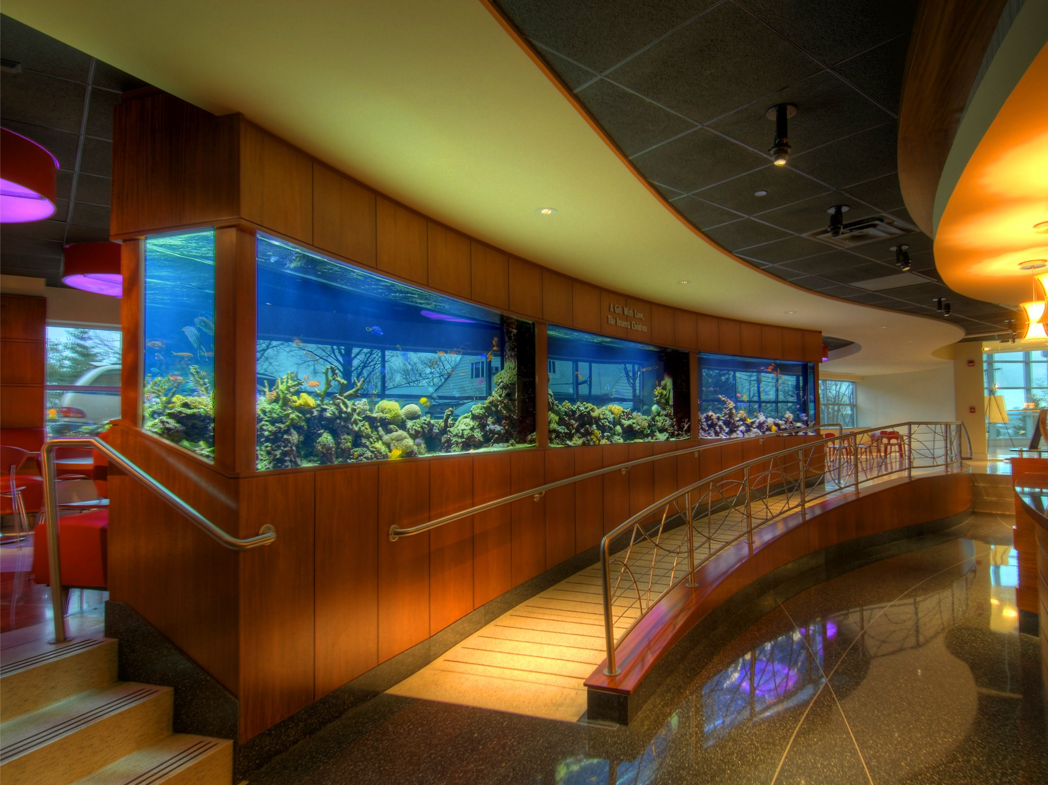 RAD Aquarium Design At Hackensack University Medical Center In New Jersey