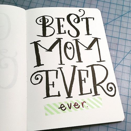 Who's got one of these? I know I do! Love, yah! #handlettering #bestmomever | by madeline.inkc