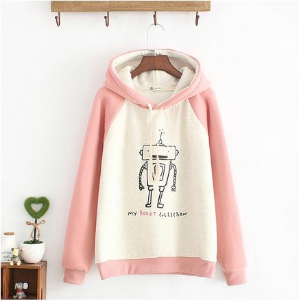 بلوفرات طويلة فرو وردي ازرق بيج Fashion Sweatshirts Sweaters