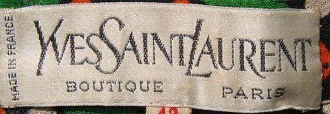 Vintage Fashion Guild Label Resource Saint Laurent Yves Vintage Fashion 1960s Vintage Outfits Vintage Fashion