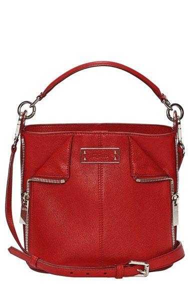 Alexander Mcqueen Small De Manta Leather Bucket Bag Available At Nordstrom