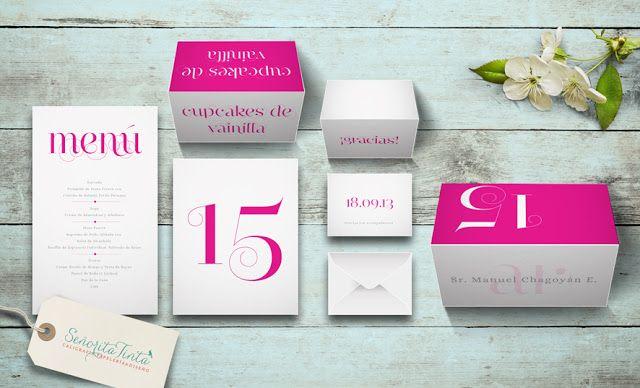 Set aplicaciones Narciss: Menú, Número de mesa, Personalizador de lugar, Tent card para buffet, Agradecimientos