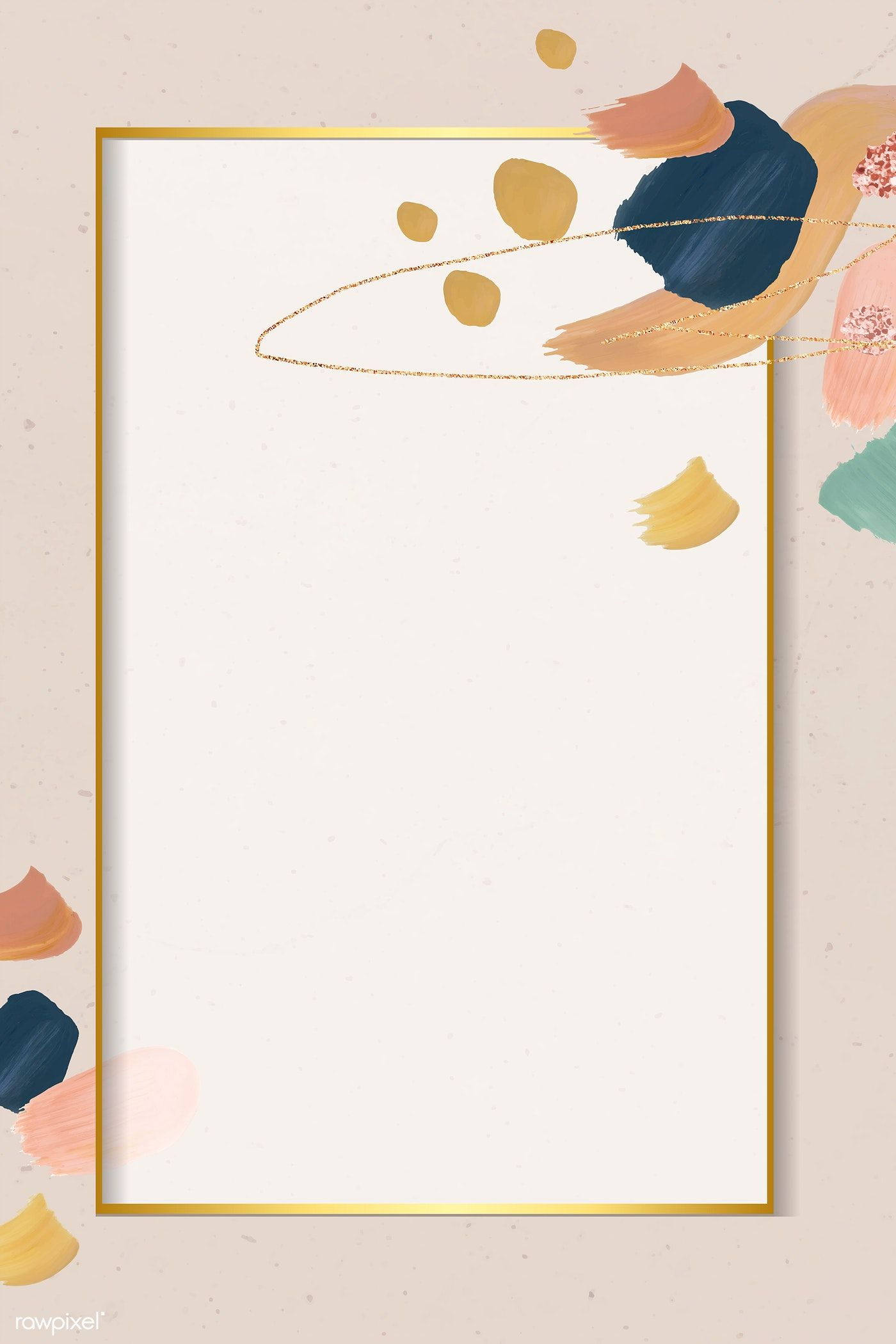 Download Premium Vector Of Golden Rectangle On An Abstract Element Frame Abstract Graphic Design Background Templates Illustration