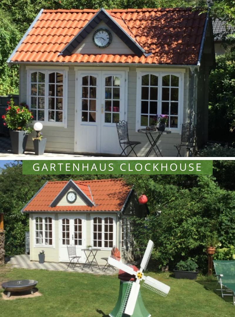 Clockhouse Gartenhaus Modell Mia28. http//www.gartenhaus
