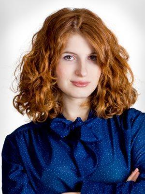 Shoulder length curly hair