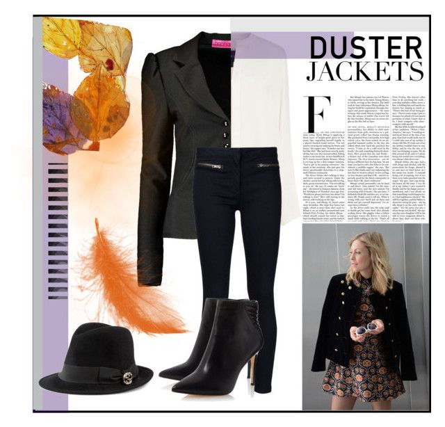 """""""So Cute: Duster Jackets"""" by fashionconnery ❤ liked on Polyvore featuring Boohoo, Derek Lam, Veronica Beard, Nicki Minaj and Gucci"""