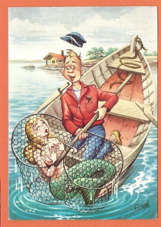 Смешные картинки рыбак с русалкой, надписями низу