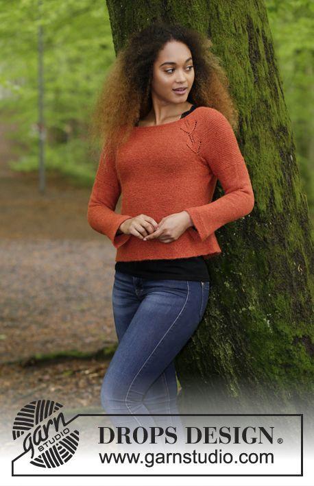 Autumn Vines | knit women\'s pullovers (lace) | Pinterest | Patrones ...