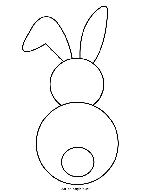photo regarding Rabbit Template Printable called rabbit template printable -
