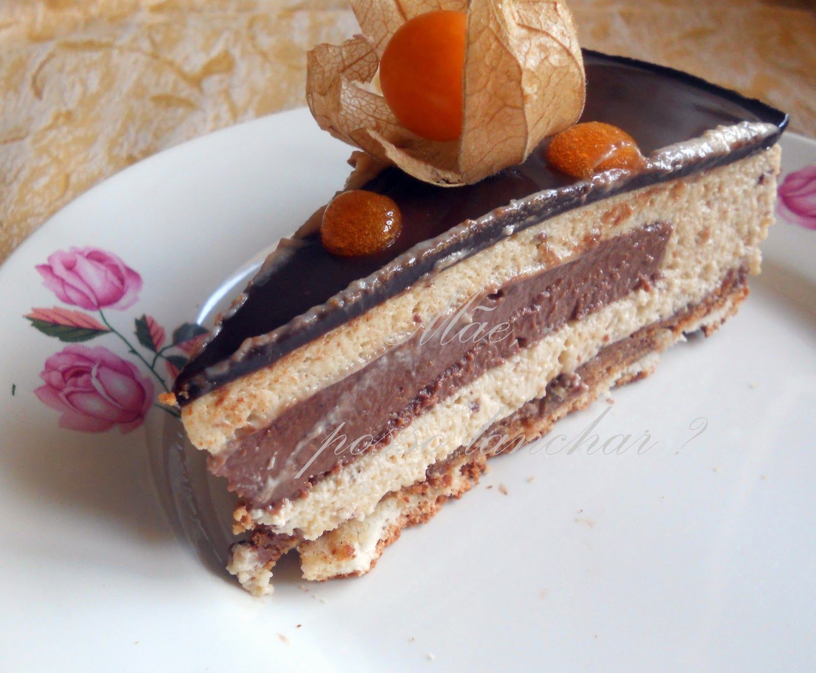 Chestnut and chocolate entremet