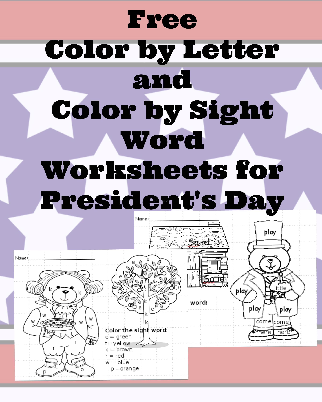 Presidents Day Worksheets For Preschool Or Kindergarten