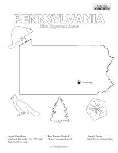 United States Coloring Pages Pennsylvania History Coloring