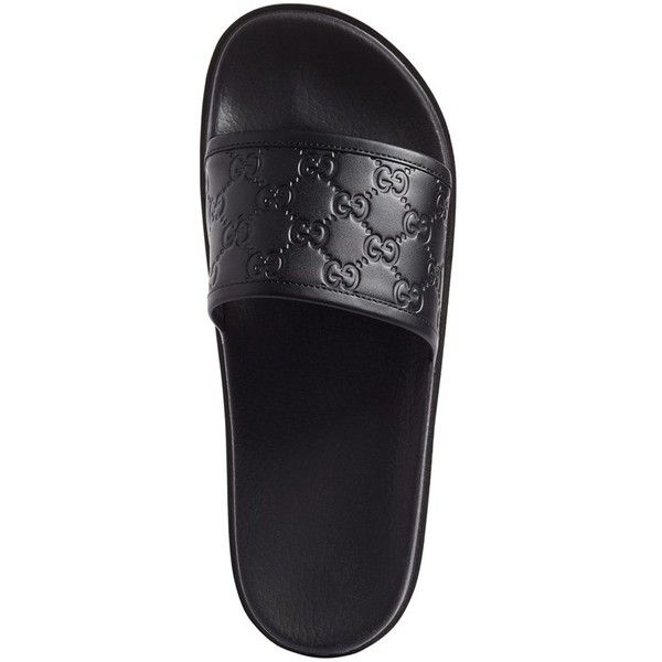 be403aa737c Men s Gucci  Pursuit Treck  Slide Sandal ( 350) ❤ liked on Polyvore  featuring men s fashion