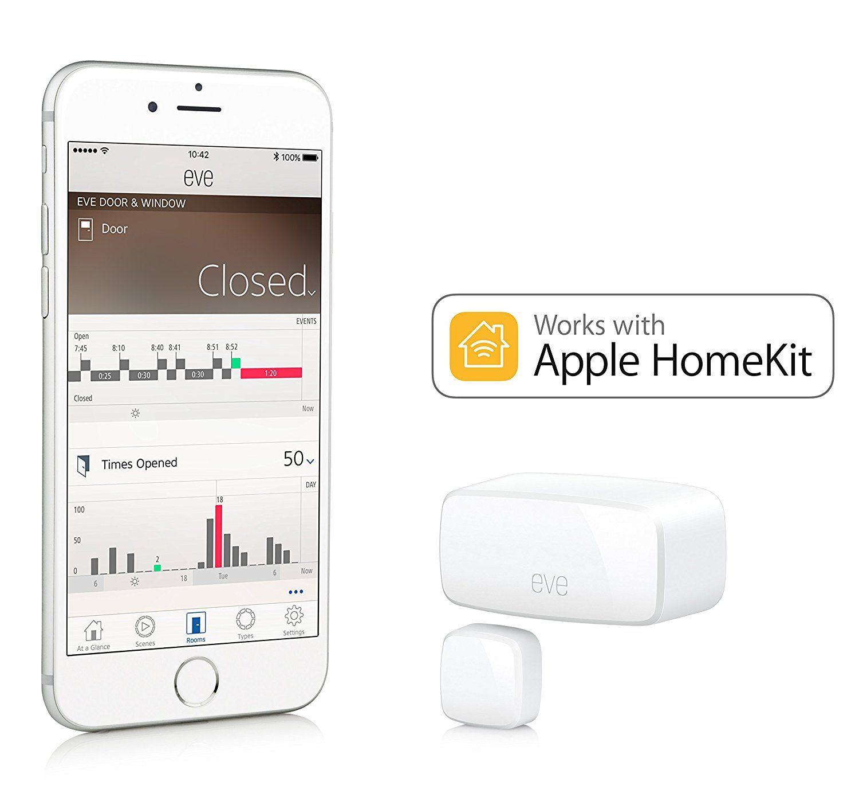 Elgato Eve Door Amp Window Neu Kabelloser Kontaktsensor Mit Apple Homekit Unterstutzung Amazon De Baumarkt Kit Hauser Kontakt Mitteilung