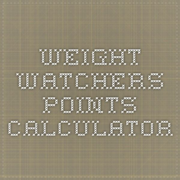 Weight Watchers Points Calculatorhttp://www.calculatorcat.com/free_calculators/weight_watchers_calculator.phtml