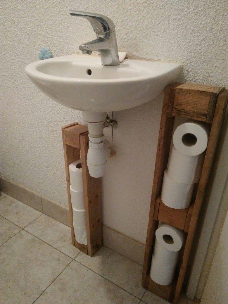 Meuble De Toilette Porte Papier Toilette En Palette Diy